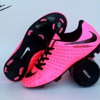 sepatu bola nike hypervenom socer original premium pink black 39-44