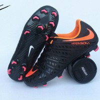 sepatu bola nike hypervenom original premium black oren 39-44 import