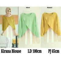 xl jumbo bigsize pastel blouse muslim atasan baju hijab kekinian gaul