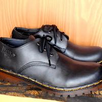 premium Sepatu Boots Docmart Dr Martens 3 hole / lubang - Kulit - pria