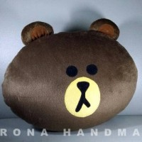 Bantal Boneka Handmade Karakter Brown LINE