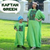 MURAH   Kaftan green gamis couple mom n kids baju ibu anak DIJAMIN