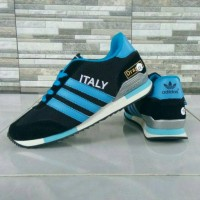 Sepatu Adidas Italy Hitam Biru Harga Distributor Paling Murah!!!
