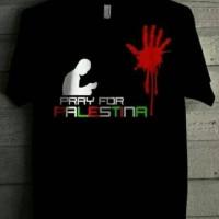 Kaos Pray For Palestina / Tshirt palestin / Baju pria terbaru