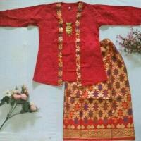 Batik anak umur 8-10 tahun/ Stelan kebaya anak/Baju Kartini