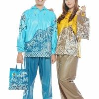 JAS HUJAN STELAN MOTIF BATIK MERK TIGER HEAD FASHION