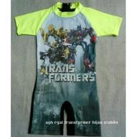 Baju Renang Anak Transformer Hijau stabilo