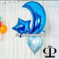 Balon Foil Bulan Sabit / Big Moon 60cm