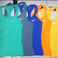 Baju Singlet Gym Fitness Senam Yoga Import Nike Wanita