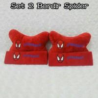 Bantal Mobil 2 in 1 Bordir SPIDERMAN Merah