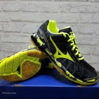 Sepatu Volly Mizuno Wave Tornado X Black Yellow V1GA 161293 original
