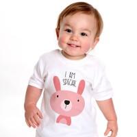 Tutot Baju / Kaos / Pakaian Anak Bergambar Rabbit 2-3 tahun Putih
