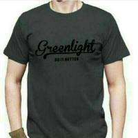 Big Size XXXL-XXXXL /Kaos Green light Distro T-shirt Big Size Pria