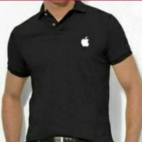kaos kerah polo tshirt APPLE murah m L XL XXL