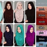 HEMAT Hijab / Jilbab Instant Arabian Hoodie Premium Versi Jumbo TERMUR