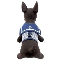 baju anjing kalung kucing kostum hewan Dog Harness Clothes sailor blue