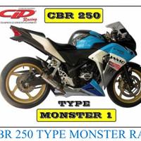 Knalpot Racing cbr 250 Cbu CLD MONSTER Series Full System Original