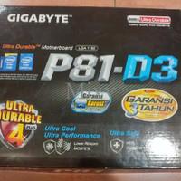 PROMO Gigabyte GA P81 D3 LGA 1150 DDR3  TERMURAH