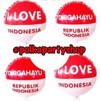 Balon Foil Bulat Mini HUT RI / Dekorasi 17an / 17 Agustus