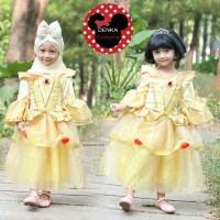 REAL PICT Kostum Princess BELLE Premium 2 Baju Anak Pesta 3-7T Disney