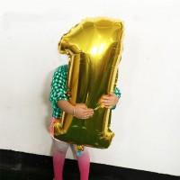 Balon Foil Dekorasi Pesta Huruf Angka Besar Party Balloon Decorations