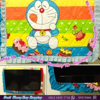 Cover TV,bando TV,Tutup TV LED/LCD motif Doraemon Cup cake