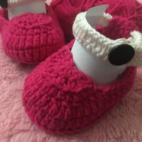 Sepatu balet bayi sepatu rajut bayi