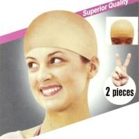 Jual Deluxe Bald Wig Cap 2pcs Nylon Kepala Botak Murah Penahan Rambut