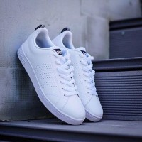 Sepatu Pria Adidas Neo Advantage Cleans White Black Made In Indonesia
