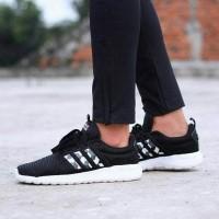 sepatu Adidas Cloudfoam lite racer - black grey