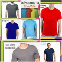 kaos oblong polos merah /biru muda /biru tua /abu /hitam /putih/Kuning