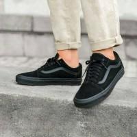 Vans Oldskool Full Black Sepatu Sekolah Anak Pria Wanita PREMIUM