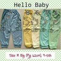 Size M 4-5th Celana Panjang Hello Baby Piyama baju tidur Anak
