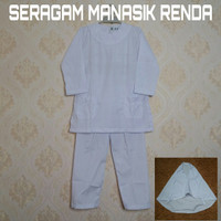 Baju Setelan Seragam Anak Manasik haji TK/PAUD MODEL RENDA