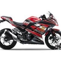 Decal Sticker Modifikasi Ninja 250 Fi Merah - Kawasaki Monster
