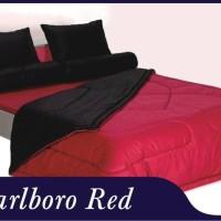 bed cover set shyra polos 2in1 warna marlboro red uk 180