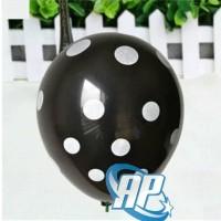 balon latex polkadot hitam/ balon polkadot hitam / balloon polka dot