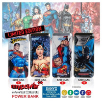 Terlaris PROBOX Power Bank 5200 mAh Superman - LIMITED EDITION - SANYO