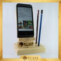 Phone Docking KAYU Custom (Stand Handphone Kayu)