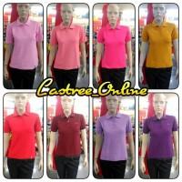 Kaos Polo Shirt Kerah Lengan Pendek Cewek I Poloshirt Wanita Murah