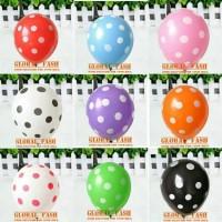 Balon latex polkadot rainbow/ balon polkadot warna/ balloon polka dot