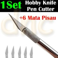 Art Hobby Knife Stencil Craft Pen Cutter Scalpel Pisau IC Kertas *HS02