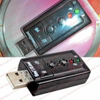 Aksesoris PC Laptop Sound Mic Speaker Earphone Out USB Vir 7.1 Channel