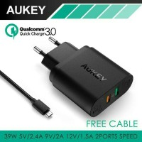 Aukey USB Turbo Charger PA-T13 (EU PLUG) - Support Quick charge 3.0