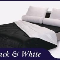 bed cover set shyra polos 2in1 warna black white uk 120x200