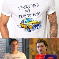 kaos Tom Spider man Homecoming I Survived My Trip To NYC T shirt