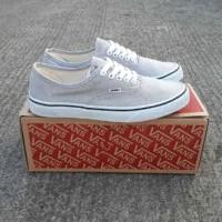 sepatu wanita vans authentic grey white sz 36-40 baru