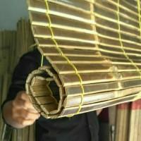 tirai bambu/kerei bambu hitam size 1.5x2
