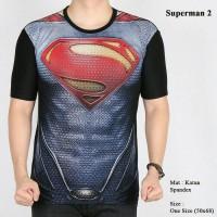 Kaos Superman Baju Fashion Pria  Cowok Superhero Gym Fitness