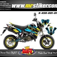striping motor decal ksr desain Keren dan racing